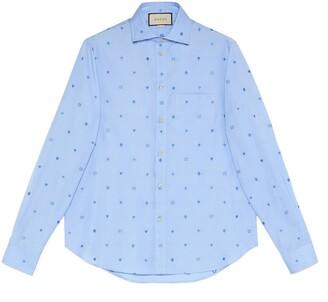 Gucci Symbols fil coupe cotton shirt