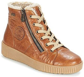 Remonte Dorndorf SERNNA women's Shoes (High-top Trainers) in Brown