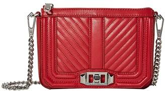 Rebecca Minkoff Chevron Quilted Mini Love Shoulder (Paprika) Handbags