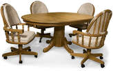 Asstd National Brand Oakmont 48 Pedestal 5-pc. Dining Set - Swivel Chairs