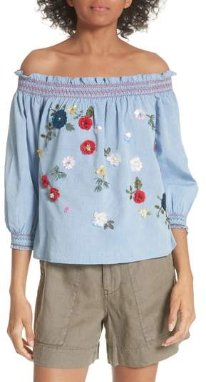 Joie Citra Embellished Peasant Top