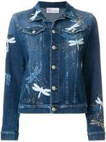 RED Valentino dragonfly denim jacket