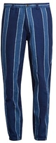 Blue Blue Japan Slim-fit linen-blend trousers