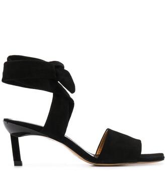 Ganni 60mm Square-Toe Sandals