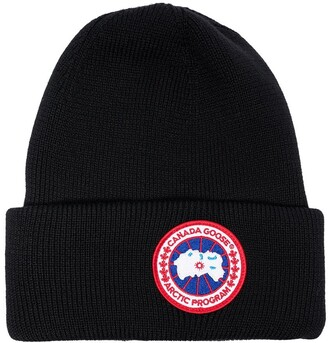 Canada Goose Logo Wool Beanie