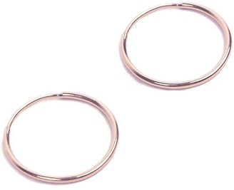 14K Endless Small Hoop Earring Rose Gold -Big