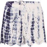 Topshop PETITE Tie Dye Cutwork Shorts