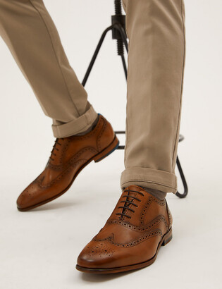 Marks and Spencer Leather Embossed Sole Brogues