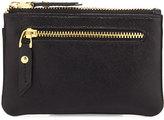 Neiman Marcus Leather Zip-Top Coin Purse, Black