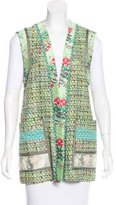 Etro Multi-Paneled Open Front Vest w/ Tags