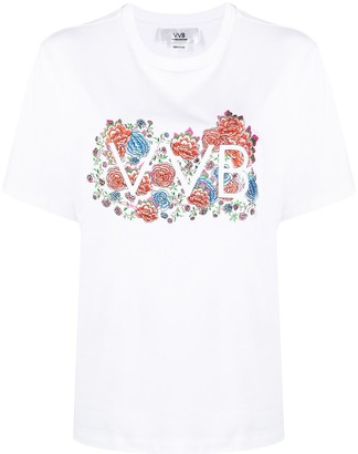 Victoria Victoria Beckham logo-print short-sleeved T-shirt