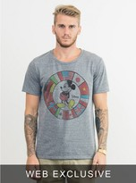 Junk Food Clothing Mickey Mouse Flags Tee-steel-xl