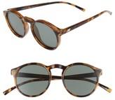 Le Specs Women's Cubanos 47Mm Round Sunglasses - Milky Tortoise