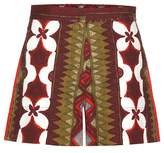 Valentino Printed cotton and linen shorts