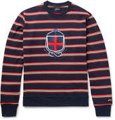 Noah Appliquéd Striped Cotton Sweatshirt