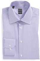 Ike Behar Long Sleeve Classic Fit Stripe Dress Shirt