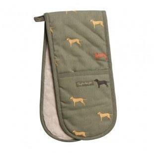 Sophie Allport - Fab Labs Double Oven Glove - Green