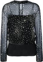 RED Valentino stars print semi-sheer blouse - women - Silk/Polyester/Spandex/Elastane - 40