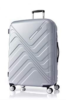 American Tourister Flashflux Spinner 79/29 Exp Tsa Silver