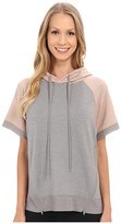 Zobha Short Sleeve Pullover w/ Color Blocking and Mesh Contrast