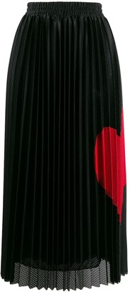 RED Valentino Pleated Heart Skirt