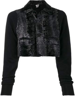 Comme des Garcons texture cropped jacket