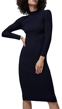 French Connection Jolie Textured Mock Neck Dress