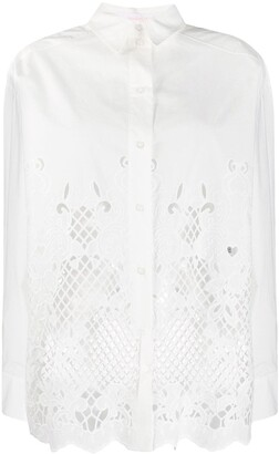 See by Chloe Laser-Cut Longline Shirt