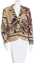 Emilio Pucci Wool Abstract Printed Blazer