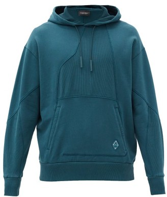 A-Cold-Wall* Panelled Cotton-jersey Hooded Sweatshirt - Blue