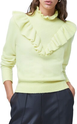French Connection Mira Ruffle Long Sleeve Sweater