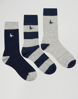 Jack Wills Socks In 3 Pack