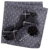 Original Penguin Charlotte Check Bow Tie, Pocket Square, & Lapel Stick Pin Set