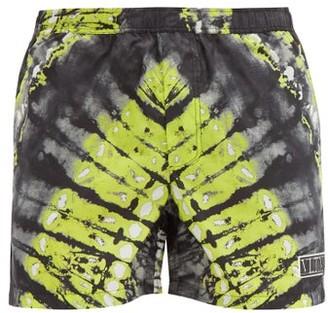 Valentino Tie Dye-print Shell Swim Shorts - Grey Multi