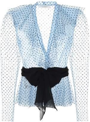 Philosophy di Lorenzo Serafini Polka-dot tulle blouse