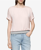 Calvin Klein Jeans Ribbed-Trim Top