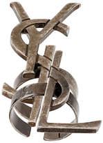 Saint Laurent set of deconstructed Monogram rings