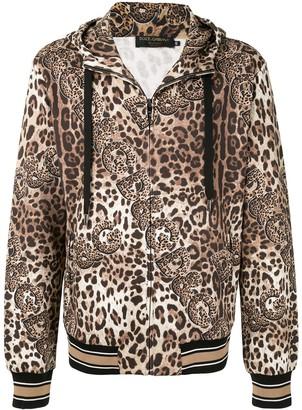 Dolce & Gabbana Leopard-Print Hoodie