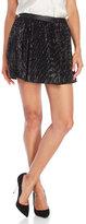 Maje Sequin Embellished Mini Skirt