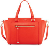 Furla Ginevra Leather Satchel Bag, Orange