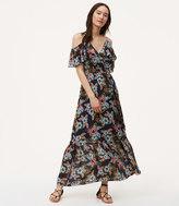 LOFT Summer Floral Cold Shoulder Maxi Dress