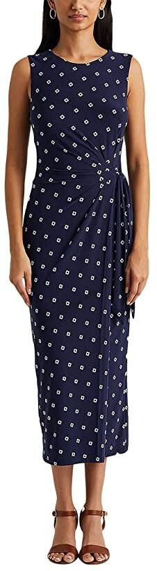 Lauren Ralph Lauren Print Jersey Midi Dress Women's Dress