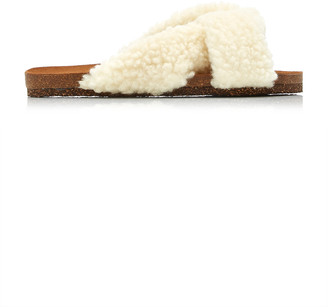 Flattered Lou Faux Fur Sandals