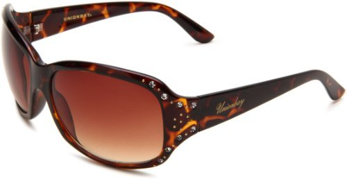 UNIONBAY Union Bay Women's U189 Oval Sunglasses,Tortoise Frame,Brown Gradient Lens,One Size