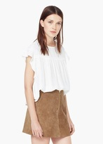 Mango Outlet Decorative Ruffle Blouse
