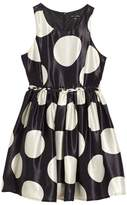 Girl's Ava & Yelly Braided Waist Fit & Flare Dress