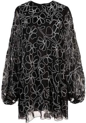 Carolina Herrera silk organza mini dress