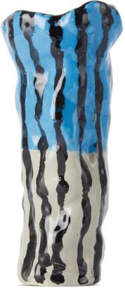Ottolinger SSENSE Exclusive Blue and Beige Slim Vase
