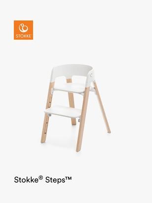 Stokke Steps Highchair, White/Natural