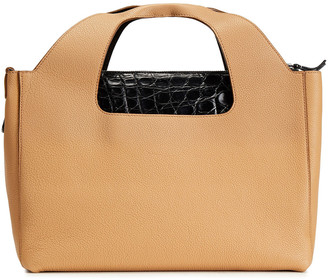 The Row Paneled Croc-effect And Pebbled-leather Tote
